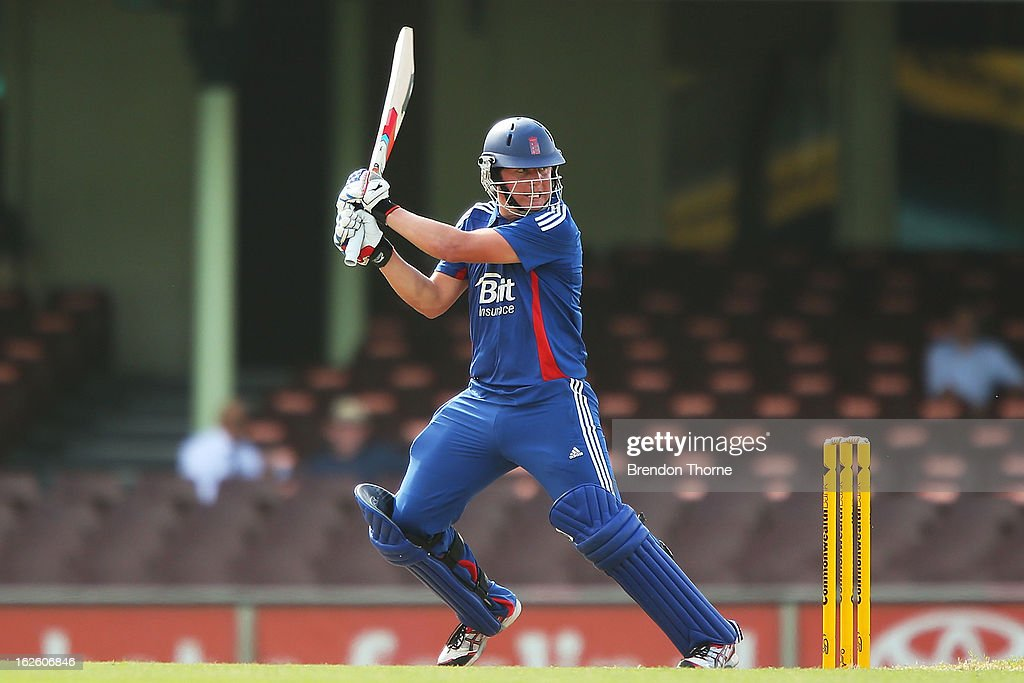 Gary Ballance of the Lions bats during the International Tour match between Australia 'A' and the England Lions at Sydney Cricket Ground on February 25, 2013 in Sydney, Australia.