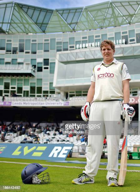 Gary Ballance of Yorkshire and England poses at Headingley Stadium on September 18 2013 in Leeds England