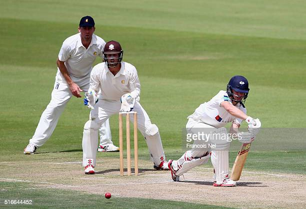Gary Ballance of Yorkshire bats during day one of the Champion County match between Marylebone Cricket Club and Yorkshire at Sheikh Zayed stadium on...