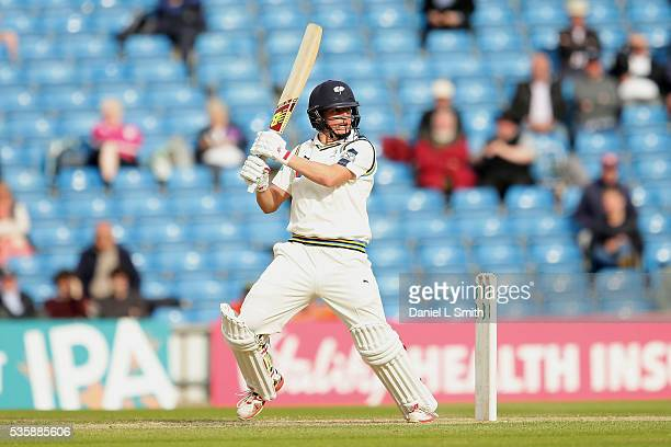 Gary Ballance of Yorkshire bats during day two of the Specsavers County Championship Division One match between Yorkshire and Lancashire at...