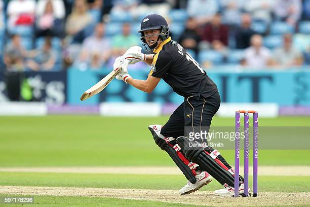 Gary Ballance of Yorkshire bats during the Royal London OneDay Cup Semi Final match between Yorkshire and Surrey at Headingley on August 28 2016 in...