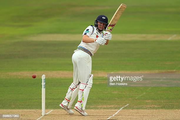 Gary Ballance of Yorkshire in action during the Specsavers County Championship Division One match between Hampshire and Yorkshire at Ageas Bowl on...