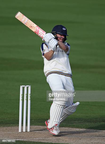 Gary Ballance of Yorkshire plays a shot during the LV County Championship match between Sussex and Yorkshire at BrightonandHoveJobscom County Ground...