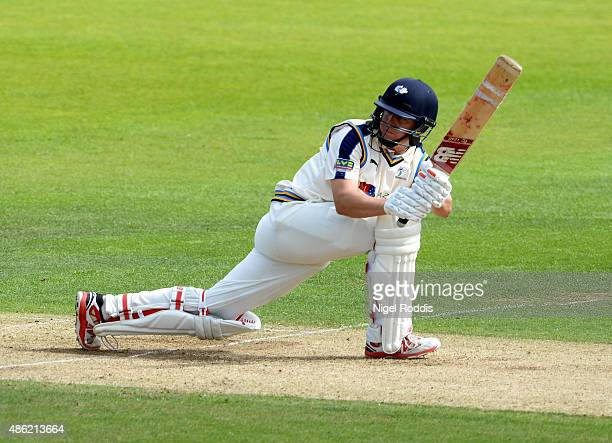 Gary Ballance of Yorkshire plays a shot during the LV County Championship match between Yorkshire and Somerset at Headingley on September 2 2015 in...