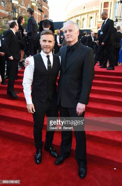 Gary Barlow and Tim Frith attend The Olivier Awards 2017 at Royal Albert Hall on April 9 2017 in London England