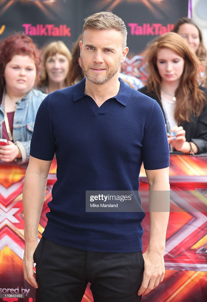 <a gi-track='captionPersonalityLinkClicked' href=/galleries/search?phrase=Gary+Barlow&family=editorial&specificpeople=616384 ng-click='$event.stopPropagation()'>Gary Barlow</a> arrives for the London auditions of 'The X Factor' at ExCel on June 19, 2013 in London, England.