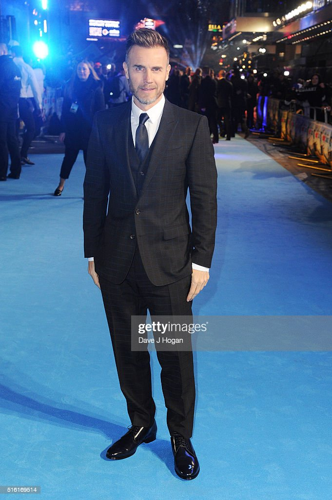 Gary Barlow attends the European premiere of 'Eddie The Eagle' at Odeon Leicester Square on March 17, 2016 in London, England.
