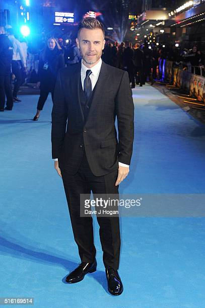 Gary Barlow attends the European premiere of 'Eddie The Eagle' at Odeon Leicester Square on March 17 2016 in London England
