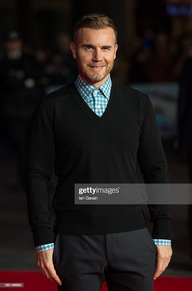 <a gi-track='captionPersonalityLinkClicked' href=/galleries/search?phrase=Gary+Barlow&family=editorial&specificpeople=616384 ng-click='$event.stopPropagation()'>Gary Barlow</a> attends the European premiere of 'One Chance' at The Odeon Leicester Square on October 17, 2013 in London, England.