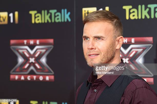 Gary Barlow attends the press launch of The X Factor at 02 Arena on August 17 2011 in London England
