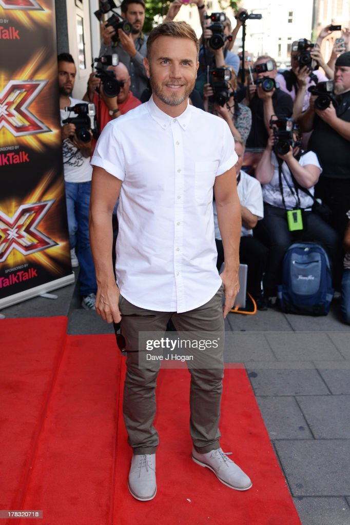 Gary Barlow attends The X Factor press launch at The Mayfair Hotel on August 29, 2013 in London, England.