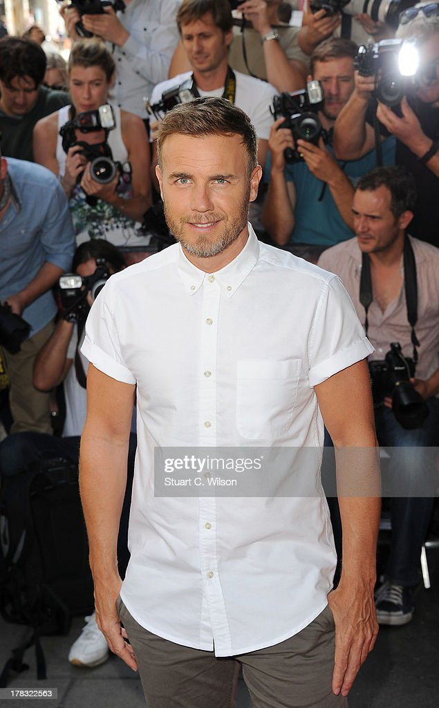 Gary Barlow attends the X Factor - Press Launch at The Mayfair Hotel on August 29, 2013 in London, England.