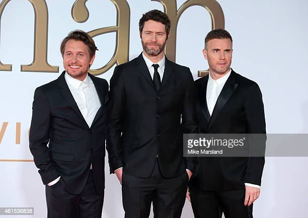 Gary Barlow Howard Donald and Mark Owen of Take That attend the World Premiere of 'Kingsman The Secret Service' at Odeon Leicester Square on January...