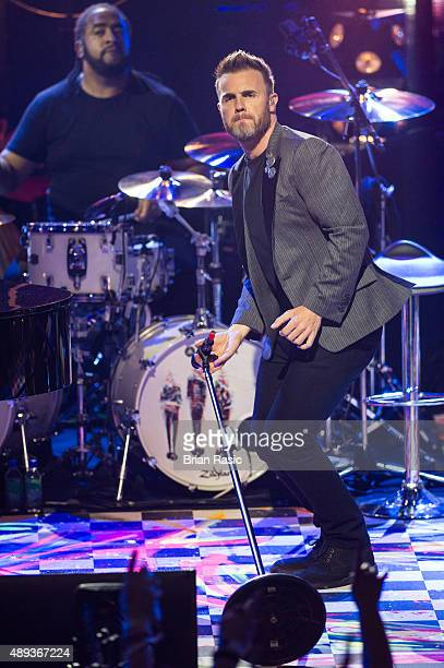 Gary Barlow of Take That performs during the 2015 Apple Music Festival at The Roundhouse on September 20 2015 in London England