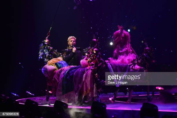 Gary Barlow of Take That performs on the opening night of Wonderland Live 2017 at Genting Arena on May 5 2017 in Birmingham United Kingdom