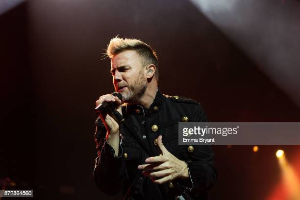 Gary Barlow of Take That performs the first show of the Australian Tour at Perth Arena on November 11 2017 in Perth Australia