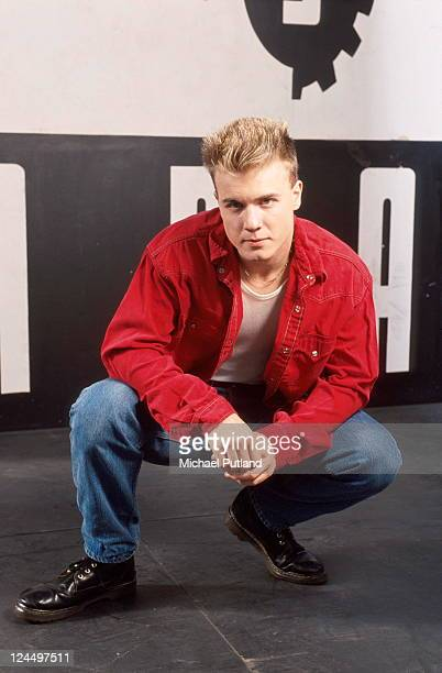 Gary Barlow of Take That studio portrait London 1991