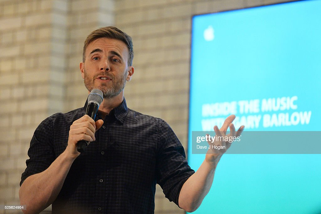 Gary Barlow speaks during 'Inside the Music with Gary Barlow,' Gary Barlow's 'Inside the Music' Podcasts are available now on iTunes, at Apple store, Covent Garden on April 28, 2016 in London, England.