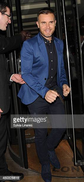 Gary Barlow X Factor Judge leaving C Restaurant on November 17 2013 in London England