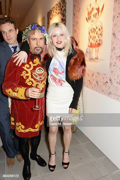 Gary Baseman and Harriet Verney attend the Coach X Serpentine The Future Contemporaries Party at The Serpentine Sackler Gallery on February 21 2015...