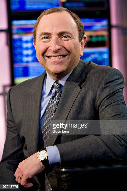 Gary Bettman commissioner of the National Hockey League sits for a portrait in New York US on Monday March 1 2010 The NHL has not made a decision...
