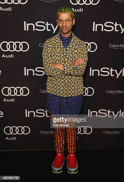 Gary Bigeni arrives ahead of the InStyle and Audi Man of Style Awards 2015 on October 14 2015 in Sydney Australia