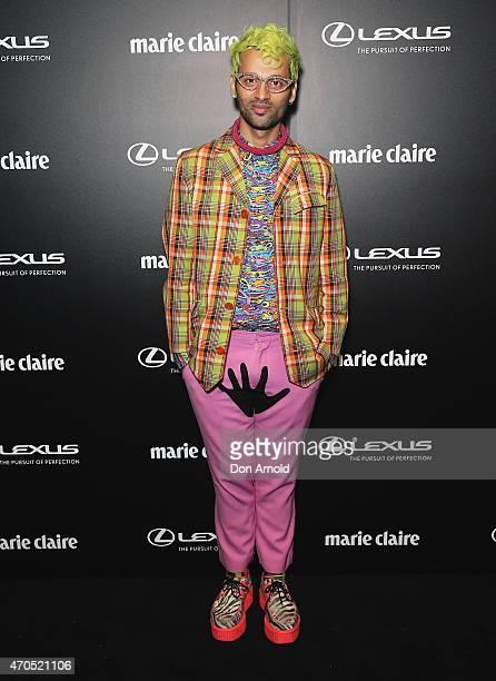 Gary Bigeni arrives at the 2015 Prix de Marie Claire Awards at Fox Studios on April 21 2015 in Sydney Australia