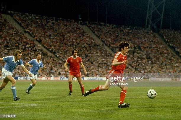 Gary Birtles of Nottingham Forest in action during the European Cup Final match against Malmo played at the Olympic Stadium in Munich West Germany...