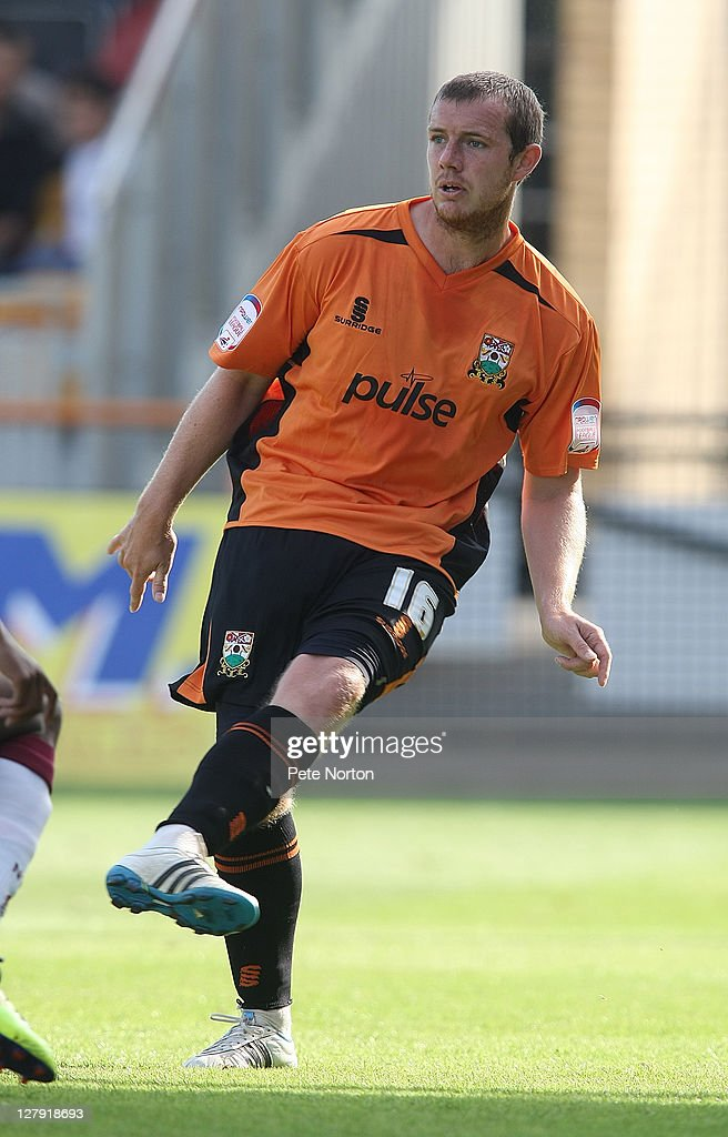 Gary Borrowdale of Barnet in action during the npower League Two match between Barnet and Northampton Town at Underhill Stadium on October 1, 2011 in Barnet, England.