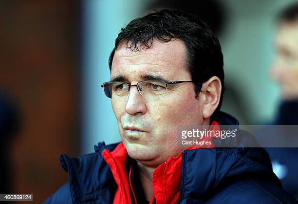 Gary Bowyer manager of Blackburn Rovers during the Sky Bet Championship match between Blackburn Rovers and Middlesbrough at Ewood Park on December 28...