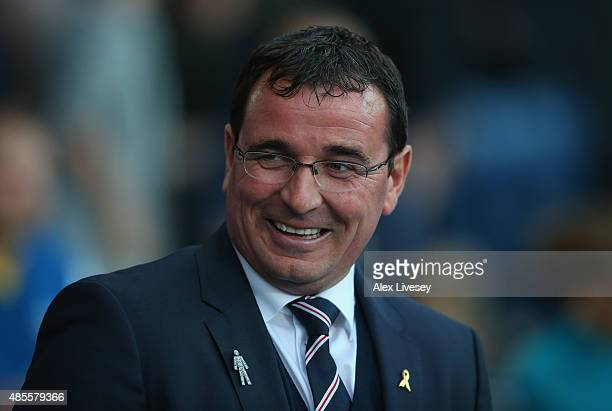 Gary Bowyer the manager of Blackburn Rovers looks on prior to the Sky Bet Championship match between Blackburn Rovers and Bolton Wanderers at Ewood...