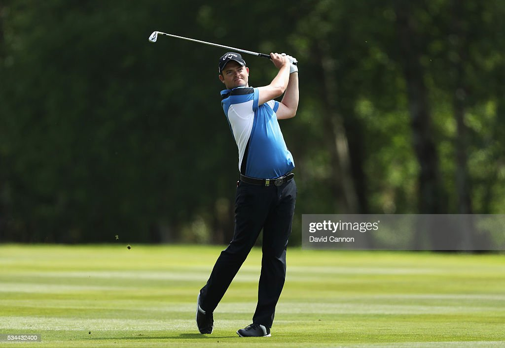 <a gi-track='captionPersonalityLinkClicked' href=/galleries/search?phrase=Gary+Boyd+-+Golf&family=editorial&specificpeople=4686344 ng-click='$event.stopPropagation()'>Gary Boyd</a> of England in action during day one of the BMW PGA Championship at Wentworth on May 26, 2016 in Virginia Water, England.