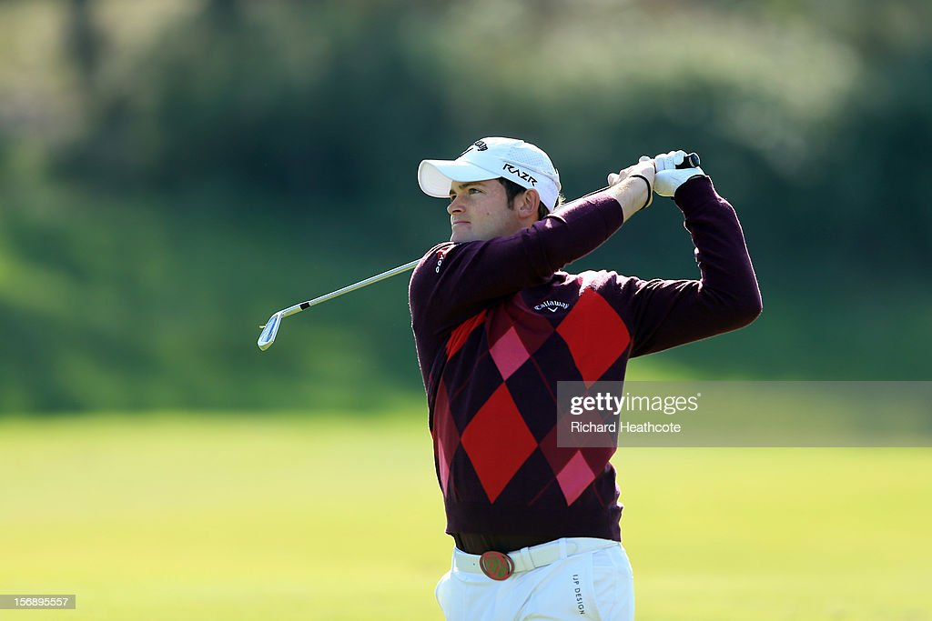 Gary Boyd of England in action during the first round of the European Tour Qualifying School Finals at PGA Catalunya Resort on November 24, 2012 in Girona, Spain.