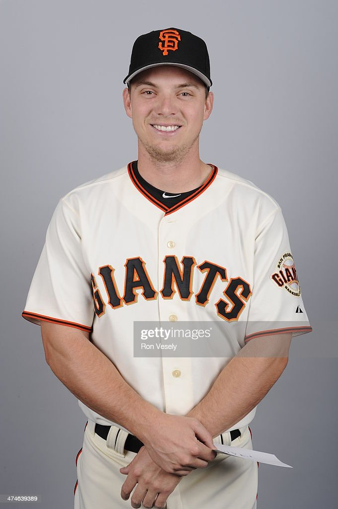 <a gi-track='captionPersonalityLinkClicked' href=/galleries/search?phrase=Gary+Brown&family=editorial&specificpeople=196518 ng-click='$event.stopPropagation()'>Gary Brown</a> #56 of the San Francisco Giants poses during Photo Day on Sunday, February 23, 2014 at Scottsdale Stadium in Scottsdale, Arizona.
