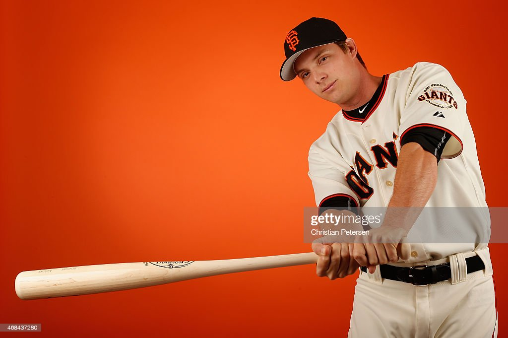 <a gi-track='captionPersonalityLinkClicked' href=/galleries/search?phrase=Gary+Brown&family=editorial&specificpeople=196518 ng-click='$event.stopPropagation()'>Gary Brown</a> of the San Francisco Giants poses for a portrait during spring training photo day at Scottsdale Stadium on February 27, 2015 in Scottsdale, Arizona.
