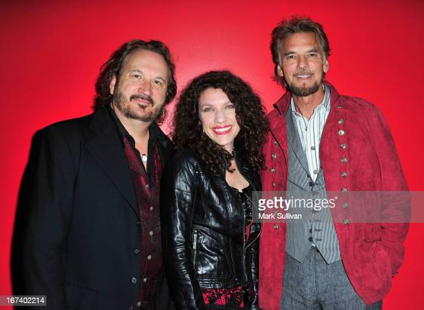Gary Burr Georgia Middleman and Kenny Loggins pose before An Evening With Blue Sky Riders at The GRAMMY Museum on April 24 2013 in Los Angeles...