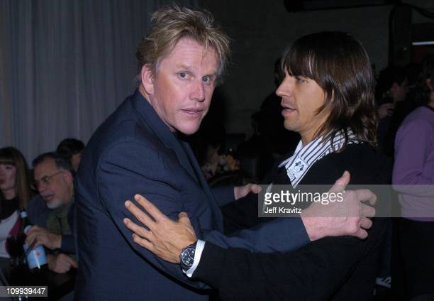 Gary Busey and Anthony Kiedis during Lost in Translation DVD Launch Party Inside at Koi Restaurant in Los Angeles California United States