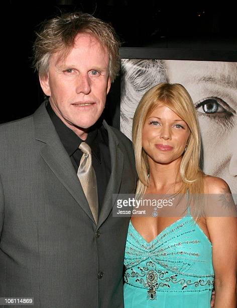Gary Busey and Donna D'Errico during 'The Queen' Los Angeles Premiere Arrivals at Academy of Motion Picture Arts and Sciences in Beverly Hills...