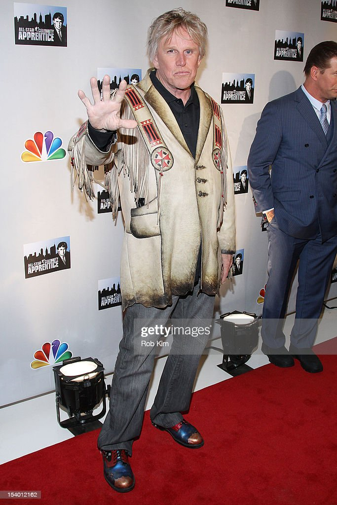 <a gi-track='captionPersonalityLinkClicked' href=/galleries/search?phrase=Gary+Busey&family=editorial&specificpeople=206115 ng-click='$event.stopPropagation()'>Gary Busey</a> attends the 'Celebrity Apprentice All Stars' Season 13 Press Conference at Jack Studios on October 12, 2012 in New York City.