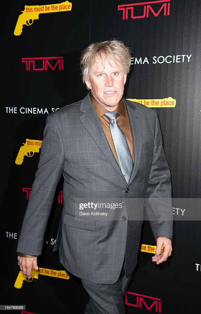 <a gi-track='captionPersonalityLinkClicked' href=/galleries/search?phrase=Gary+Busey&family=editorial&specificpeople=206115 ng-click='$event.stopPropagation()'>Gary Busey</a> attends The Weinstein Company With The Cinema Society And Tumi Host A Screening Of 'This Must Be the Place' at Tribeca Grand Hotel on October 25, 2012 in New York City.