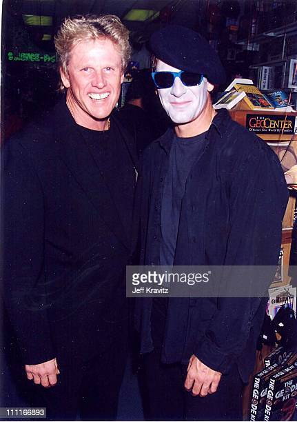 Gary Busey Scott Bakula during Opening of Puzzle Zoo in Santa Monica California United States