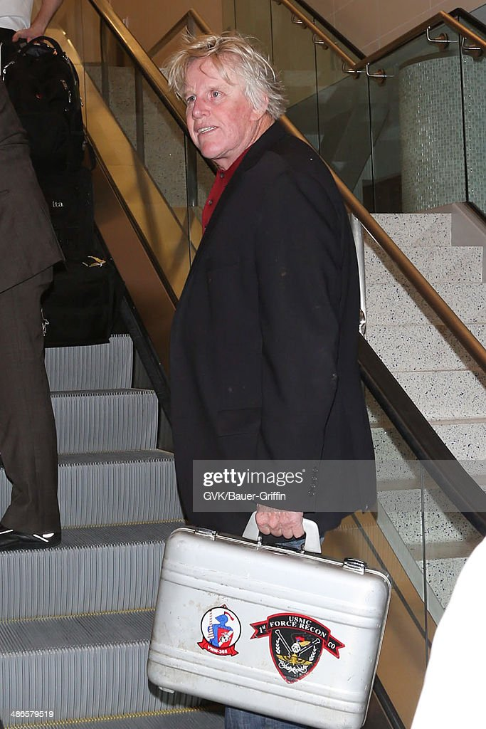 Gary Busey seen at LAX on April 24, 2014 in Los Angeles, California.
