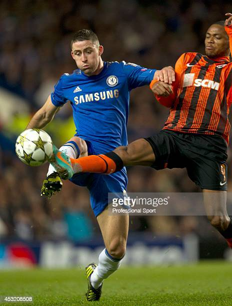 Gary Cahill in action for Chelsea during the UEFA Champions League Group E match between Chelsea and Shakhtar Donetsk at Stamford Bridge on November...