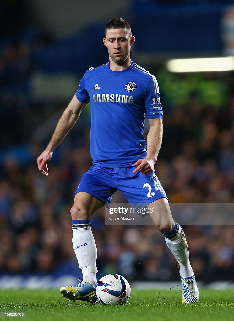 Gary Cahill of Chelsea in action during the Capital One Cup Semi-Final first leg match between Chelsea and Swansea City at Stamford Bridge on January 9, 2013 in London, England.