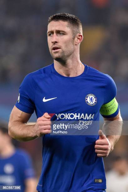 Gary Cahill of Chelseaduring the UEFA Champions League match between Chelsea v AS Roma at Stamford Bridge Stadium London United Kingdom on 18 October...