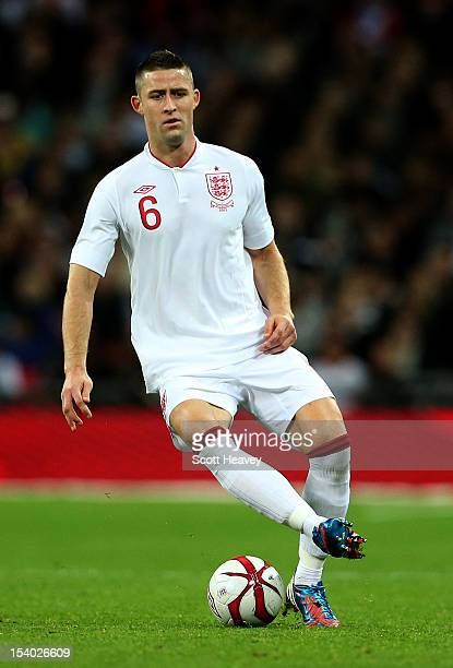 Gary Cahill of England in action during the FIFA 2014 World Cup Group H qualifying match between England and San Marino at Wembley Stadium on October...