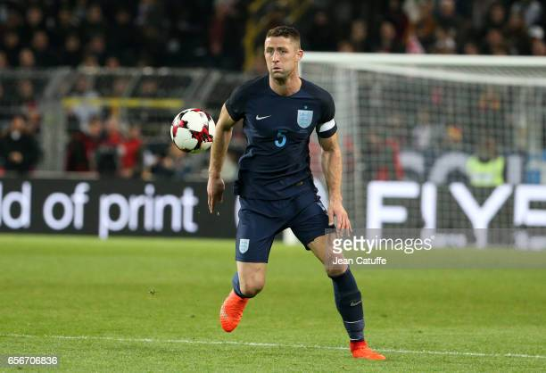 Gary Cahill of England in action during the international friendly match between Germany and England at Signal Iduna Park on March 22 2017 in...