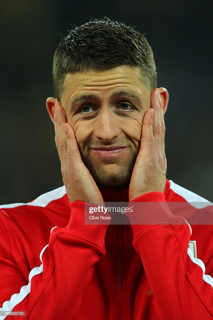 <a gi-track='captionPersonalityLinkClicked' href=/galleries/search?phrase=Gary+Cahill&family=editorial&specificpeople=204341 ng-click='$event.stopPropagation()'>Gary Cahill</a> of England looks on prior to the FIFA 2014 World Cup qualifying match between Ukraine and England at the Olympic Stadium on September 10, 2013 in Kiev, Ukraine.