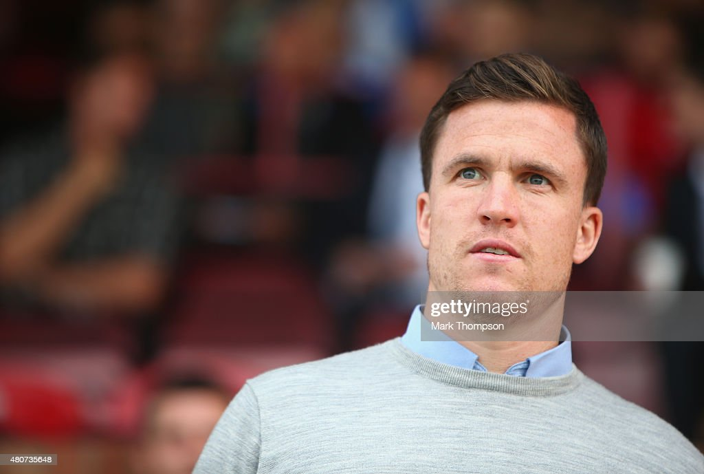 Gary Caldwell the manager of Wigan Athletic in action during the pre season friendly between Altrincham and Wigan Athletic at the J Davidson stadium...