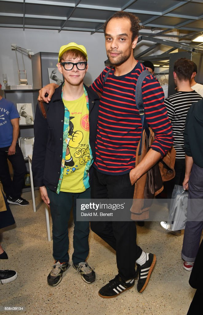 Gary Card (L) and Raven Smith attend the Dover Street Market open house on October 6, 2017 in London, England.